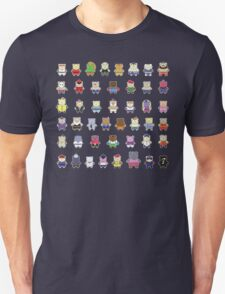BEARS and FIGHTERS - STREET FIGHTER 4 CHARACTER SELECT DARK BACKGROUND T-Shirt