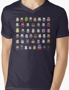 BEARS and FIGHTERS - STREET FIGHTER 4 CHARACTER SELECT DARK BACKGROUND Mens V-Neck T-Shirt