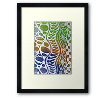 Wavy Bubbles Framed Print