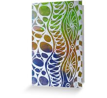 Wavy Bubbles Greeting Card