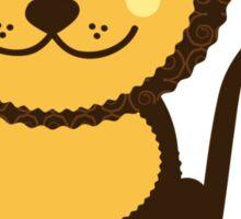 Leo Vector Illustration Sticker