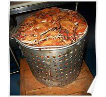 Big Pot of Hot Steamed Crabs Poster