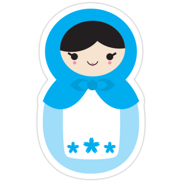 Blue Matryoshka Doll by imaginarystory