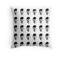 Too Much Skulls Throw Pillow