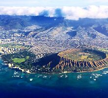 Above Diamond Head by WhiteDove Studio kj gordon