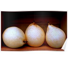 Three Pretty Pears in a Wooden Box Poster