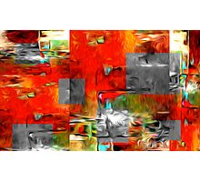 Abstract Colors Oil Painting #80 Photographic Print