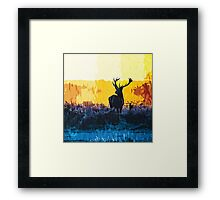 The water, the fire and the deer Framed Print