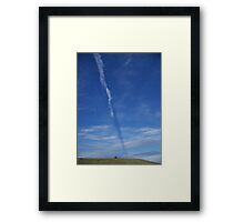 Contrail Shadow in the Sky Framed Print
