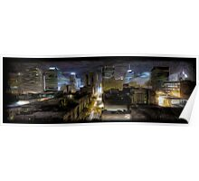Night Cityscape Oil Painting Poster