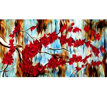 Abstract Tree Oil Painting #10 Photographic Print