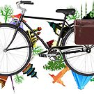 Global Bicycle round the world - save the planet design by Bruno Beach