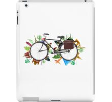 Global Bicycle round the world - save the planet design iPad Case/Skin