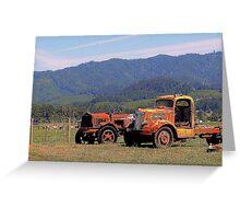 Oregon Orange Greeting Card