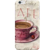 Patisserie Damask Coffee Cup iPhone Case/Skin