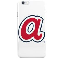 Atlanta Braves lower case A iPhone Case/Skin