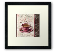 Patisserie Damask Coffee Cup Framed Print