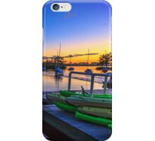 Green Kayaks iPhone Case/Skin