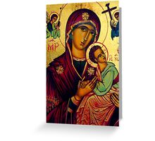 picture of the madonna - St Matthews Church, Grantham Greeting Card