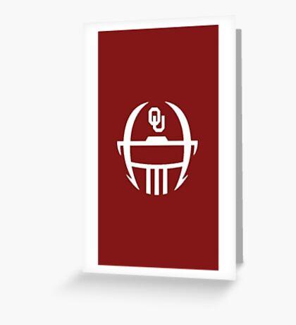 Oklahoma Sooners Minimal helmet design Greeting Card