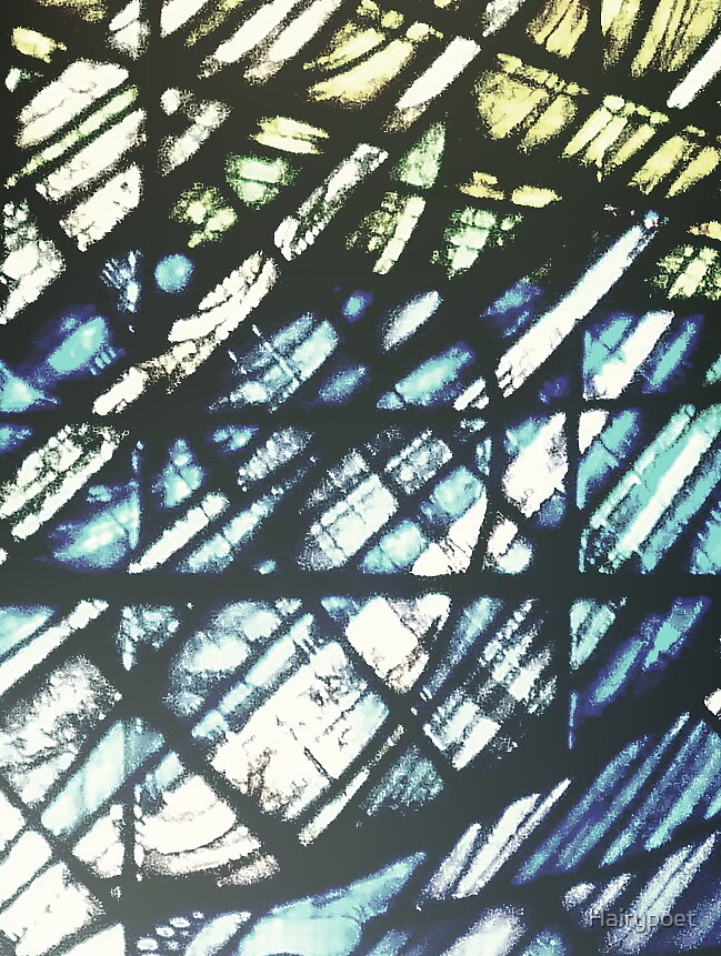 abstract - Stained glass at St.Matthews in Grantham by Hairypoet