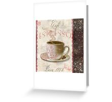 Patisserie Espresso Coffee Cup Greeting Card