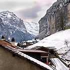 Log cabins and Chalets, Lauterbrunnen, Switzerland by buttonpresser