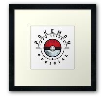 Pokemon Gym Leader Badge Framed Print