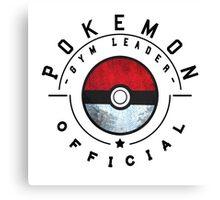 Pokemon Gym Leader Badge Canvas Print