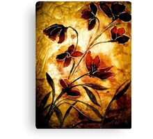 The Poppy Journals...Fabric.... Canvas Print