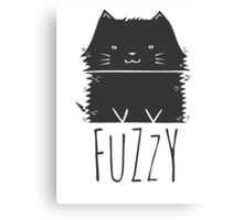 fuzzy cat Canvas Print