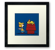 misty and psyduck peanuts Framed Print