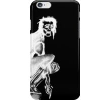 Gothic Gargoyle Perch (full alpha in white) iPhone Case/Skin