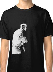 Gothic Gargoyle Perch (full alpha in white) Classic T-Shirt