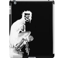 Gothic Gargoyle Perch (full alpha in white) iPad Case/Skin