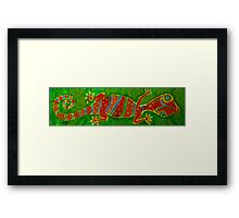 Silly House Gecko in the Jungle Framed Print
