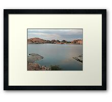 Willow Lake Dam Framed Print