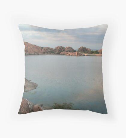 Willow Lake Dam Throw Pillow