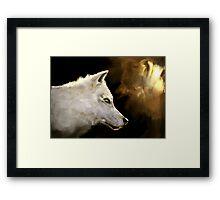 Wolf Profile 3-B Framed Print