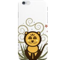 Cute Baby Lion Vector Illustration iPhone Case/Skin