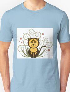 Cute Baby Lion Vector Illustration Unisex T-Shirt
