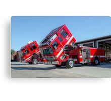 Fire Trucks Canvas Print