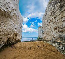 Lone fisherman at Botany Bay, Kent by Luke Farmer