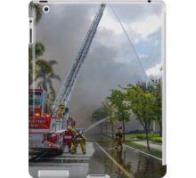 Ladder Truck At Work iPad Case/Skin