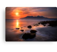 Sunset from Bay of Laig, Isle of Eigg, Scotland. Canvas Print