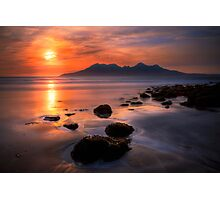 Sunset from Bay of Laig, Isle of Eigg, Scotland. Photographic Print