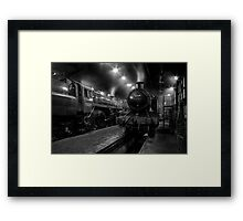 Inside The Engine Shed Framed Print