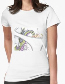 Dragon In My Pants Fantasy Tattoo Womens Fitted T-Shirt