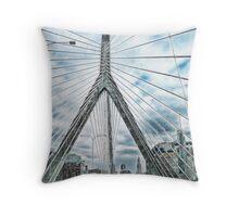 The Leonard P. Zakim Bunker Hill Memorial Bridge Throw Pillow