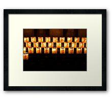 Candles, Notre Dame de Paris Framed Print